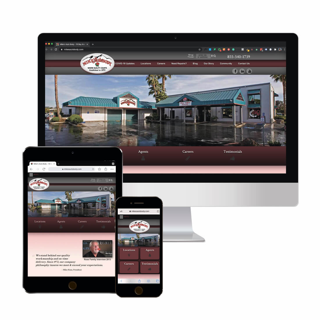 Responsive Website Design Example - WSI Connect Digital Marketing